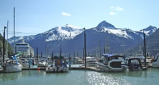 View from Skagway's Small Boat Harbor